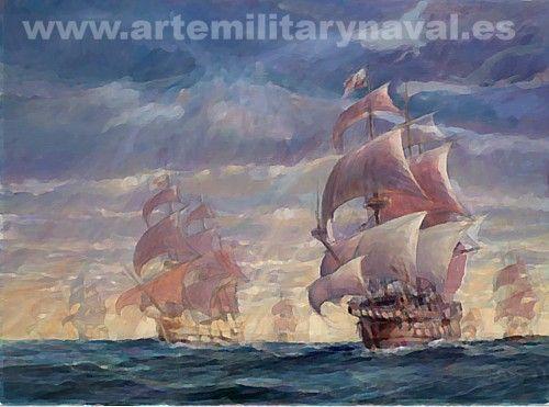 Galeones españoles navegando en convoy 2