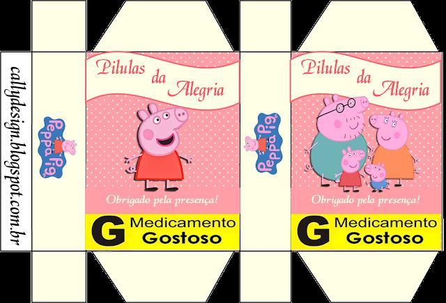 Cajas de Peppa Pig y Familia para imprimir gratis.