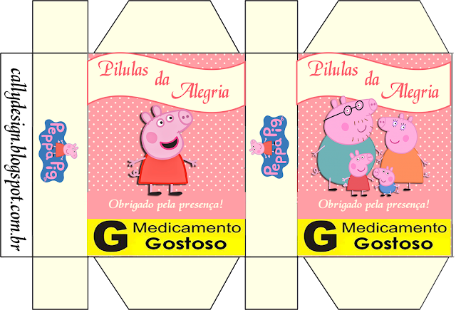 Peppa Pig and Family, Free Printable Box.