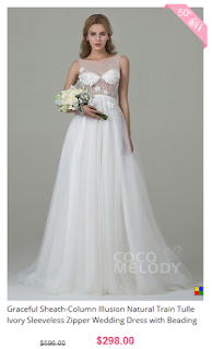 www.cocomelody.com/graceful-sheath-column-illusion-natural-train-tulle-ivory-sleeveless-zipper-wedding-dress-with-beading-and-appliques-cwxt15012.html