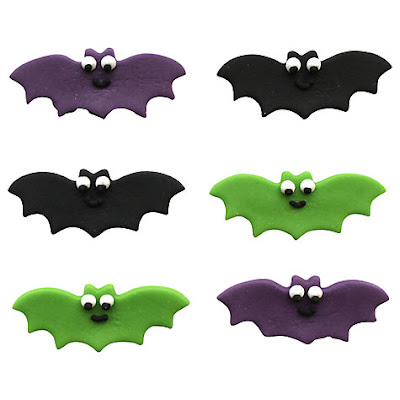 Bat cake toppers for halloween from John Lewis