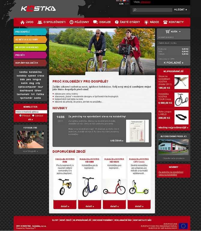 nouveau site de la marque de trottinettes tchèques KOSTKA