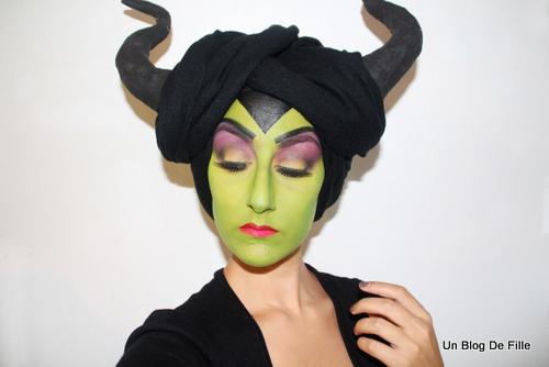 Un Blog De Fille Tuto Vidéo Maquillage Artisique Malefique Msc Vert