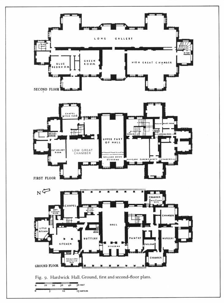 "Manor House Drawing: Architect Design™: ""New"" Hardwick Hall Tour"