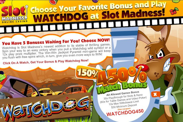 Slot Madness Casino Watchdog Promo