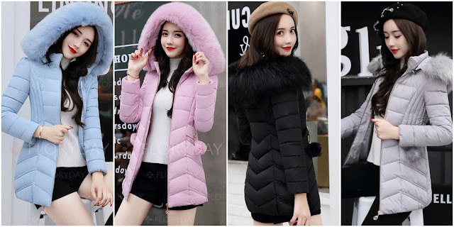 JAKET BULU WINTER HOODIE - LONG COAT IMPORT KOREA BIGSIZE READY STOCK - JAKET PARASUT