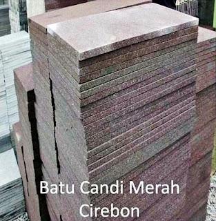 Contoh Gambar Batu Alam Candi Merah Cirebon untuk Templek Dinding Rumah Minimalis