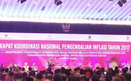 Bupati Kep. Selayar Hadiri Rakornas, Pengendalian Inflasi 2017