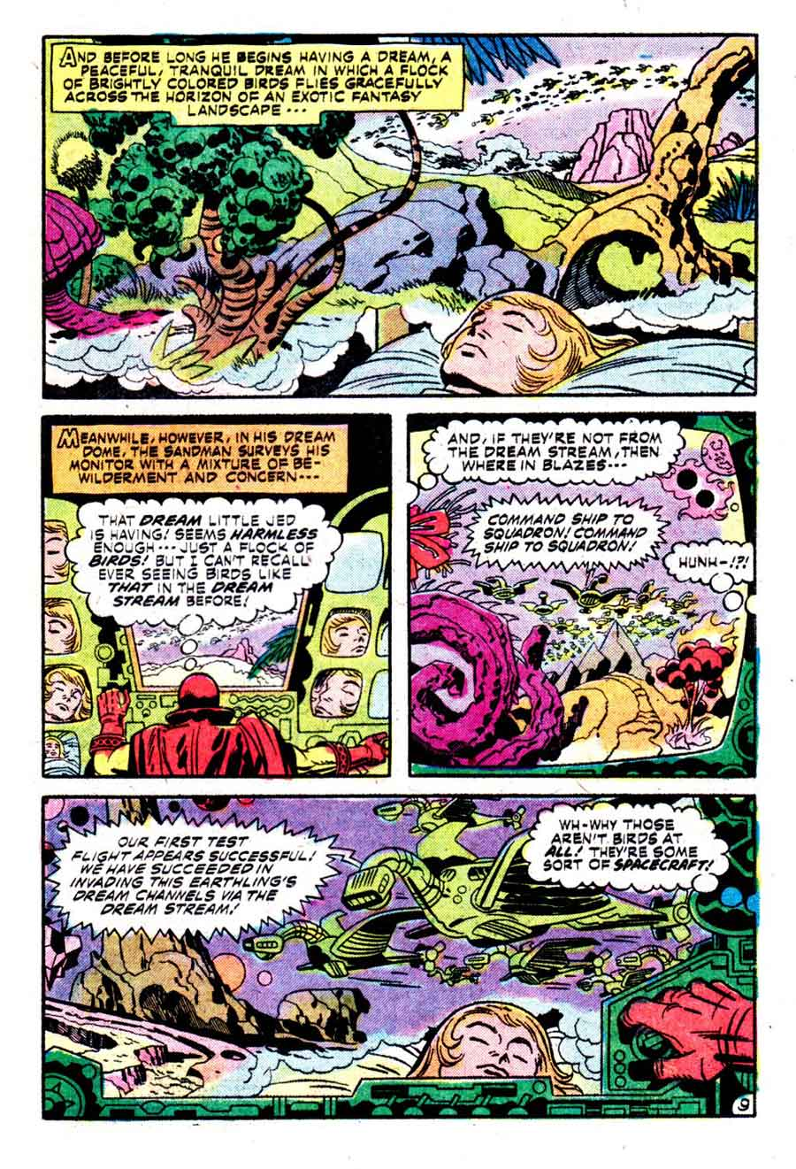 The Sandman v1 #4 dc bronze age comic book page art by Jack Kirby