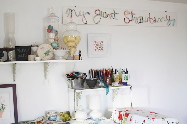 Studio, Work Space, Inspiration, Art Studio, Anne Butera, My Giant Strawberry