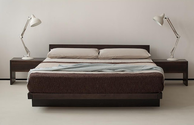 Model Tempat Tidur Kayu Minimalis Simple
