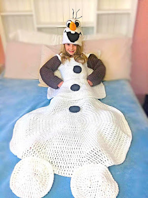 Crochet Afghan Olaf from frozen