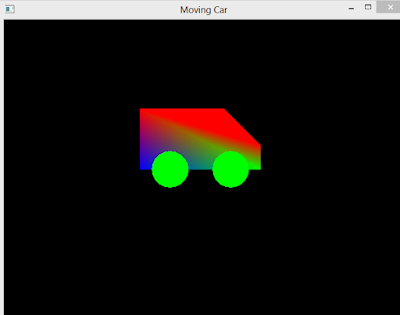 OpenGL Tutorial 2D Moving Car