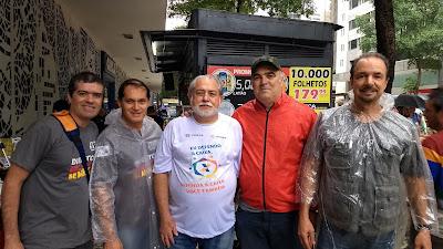 Gabriel, Dalberto, Betão Presidente da Contraf, Max e Ricardo
