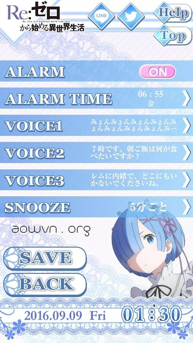 AowVN.org Rem Emilia Alarm%2B%25285%2529 - [ HOT ] Emilia Rem Alarm | Để Rem và Emilia đánh thức bạn dậy - Android & IOS