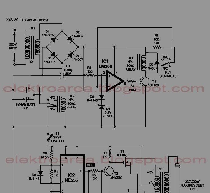 Schematic & Wiring Diagram: 6 Volt Automatic Emergency