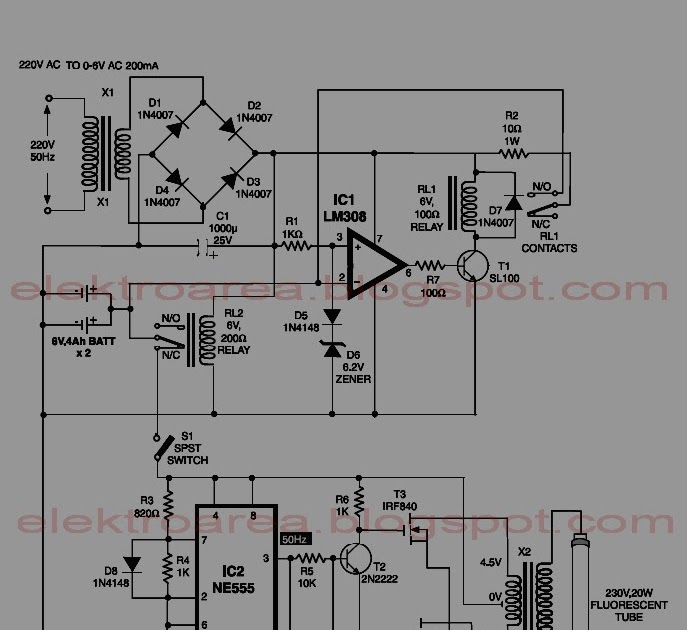 Schematic & Wiring Diagram: 6 Volt Automatic Emergency