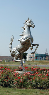Ferrari's famous 'prancing horse' at the Maranello factory