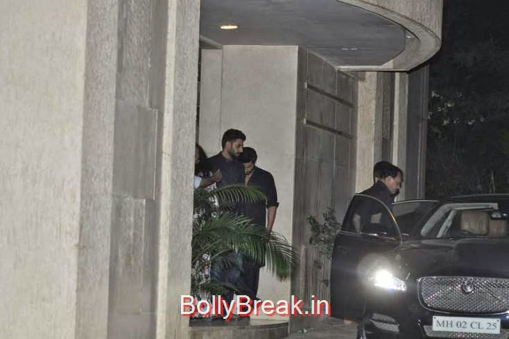 Abhishek Bachchan and Arjun Kapoor, Kiran Rao, Mini Mathur Sidharth Malhotra and Gari Khan at Ranbir Kapoor's Party