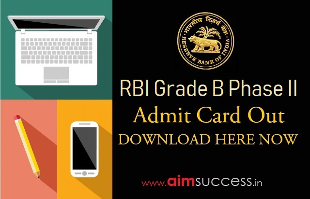 RBI Grade B Phase II Call Letter Out