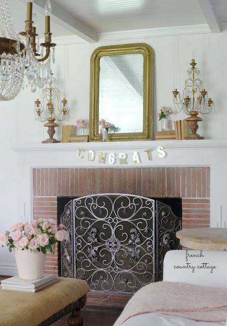 French Country Fridays 5 Simple Charming Mantel Decor