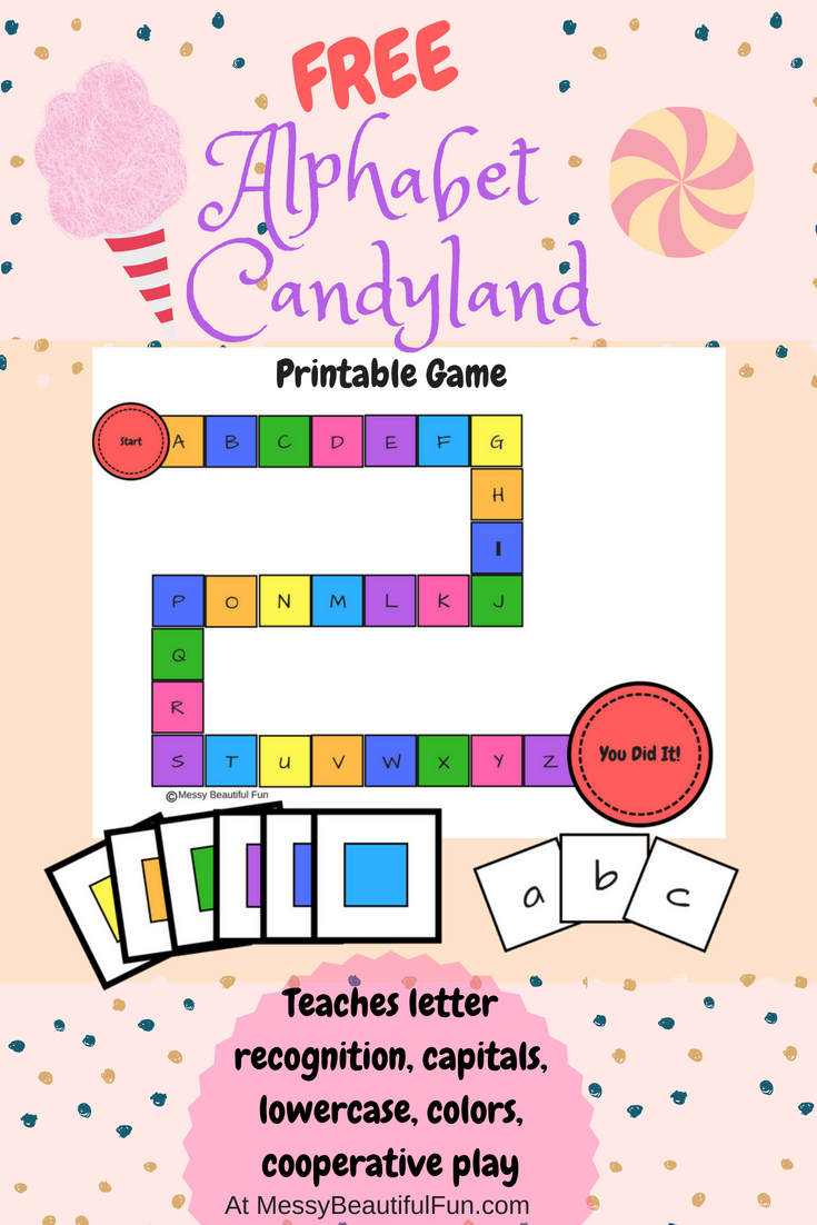 image regarding Printable Candyland Cards known as Messy, Desirable, Pleasurable: Cost-free Printable: Alphabet Candyland