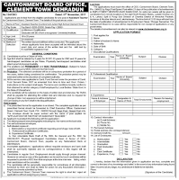 Cantonment Board Dehradun Latest Vacancy 2018