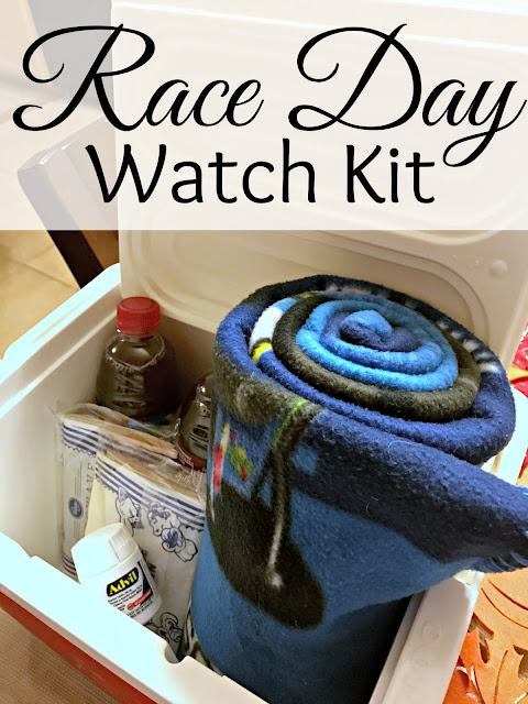 #RaceDayRelief, #AD, Race Day watch kit, Nascar gift, easy nascar gift, racing gift, racing watch gift, heart healthy white chicken chili, White chicken chili printable recipe