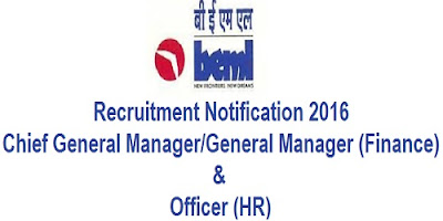 BEML Recruitment 2016