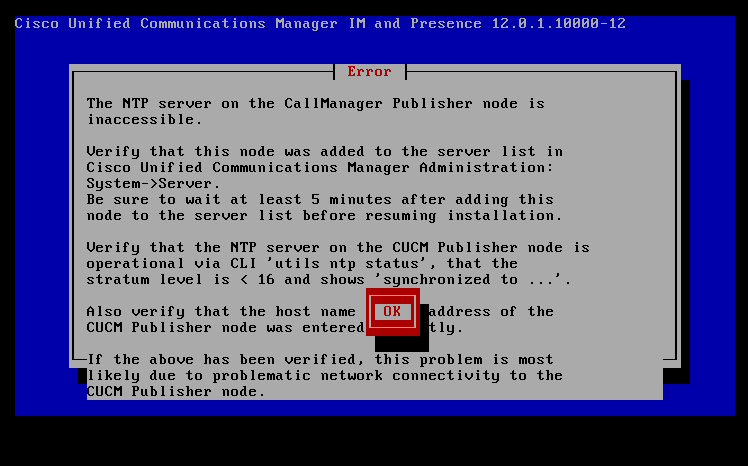 NetSysHorizon: NTP Server on Call Manager publisher mode is