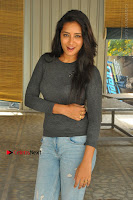 Actress Bhanu Tripathri Pos in Ripped Jeans at Iddari Madhya 18 Movie Pressmeet  0064.JPG
