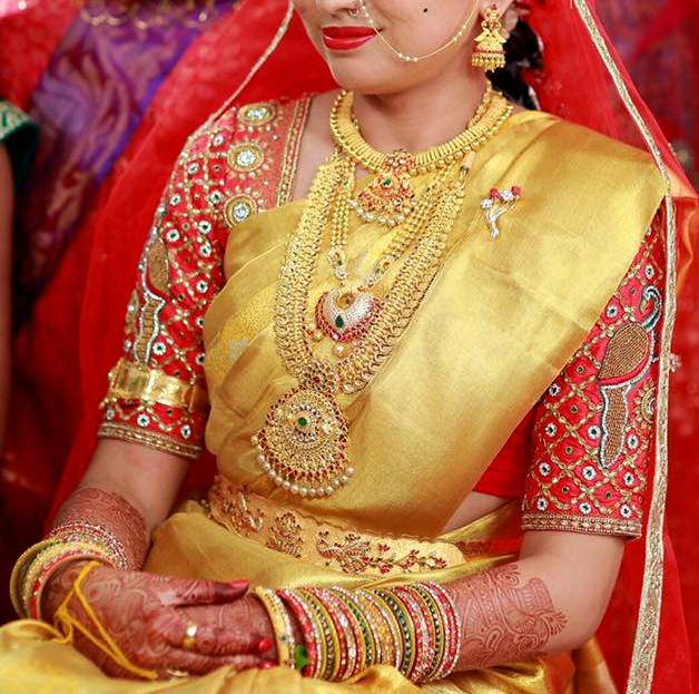 South Indian Bride Gold Jewelry Jewellery Designs