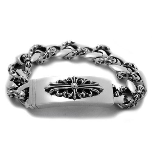 f2ee6c0048 Chrome Hearts ID Bracelet Floral Heart Dagger