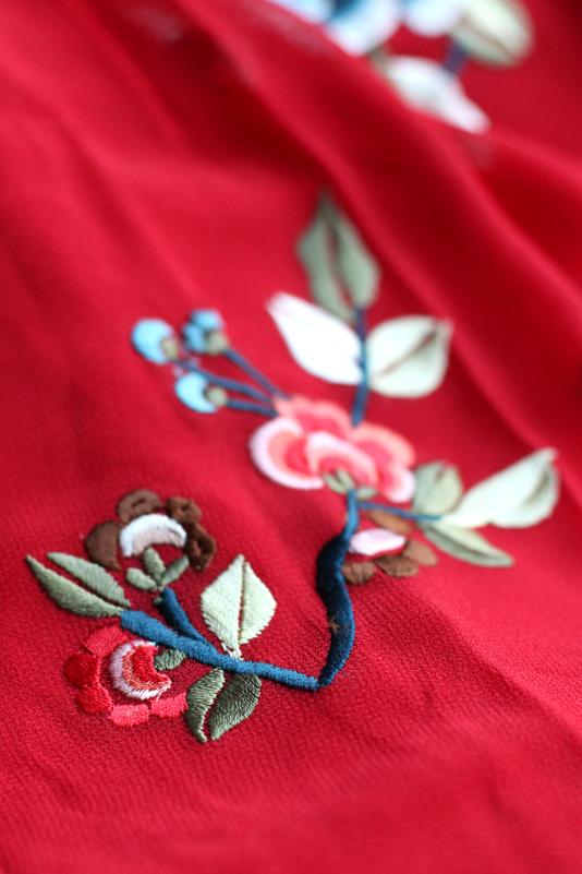 ASOS PREMIUM Mini Skater Dress with Floral Embroidery - London fashion blog
