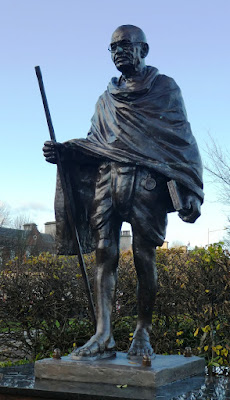 Mahatma Gandhi statue Cardiff Bay