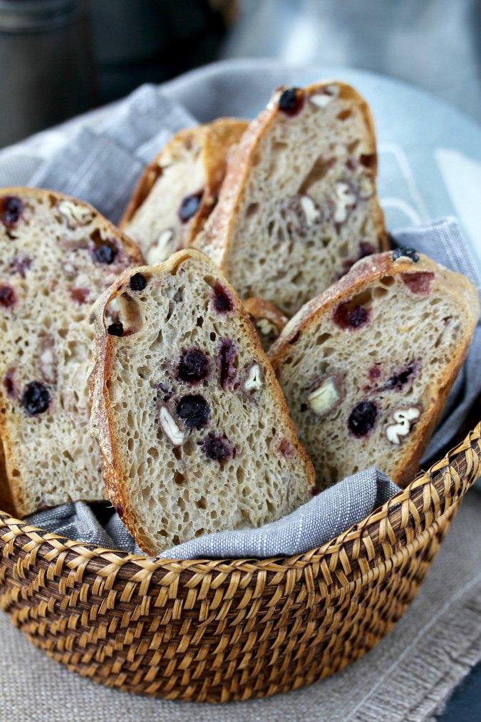 Pain au Levain with blueberries