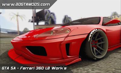 Ferrari 360 LB Work's para GTA San Andreas , GTA SA