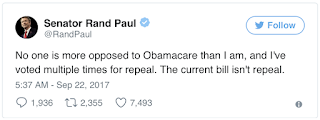 Paul: 'I won't be bribed or bullied' on repeal vote | TheHill
