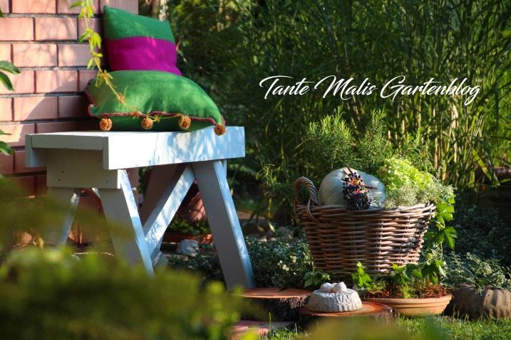 Gartenbank selbstgemacht