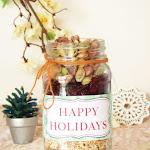 Free Printable Happy Holidays Tag