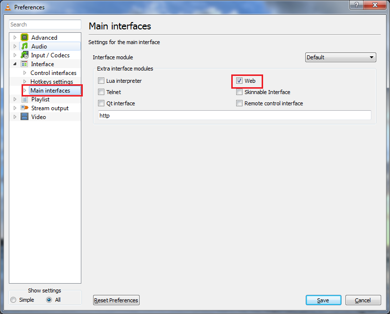 My Apps  : How to enable http interface in VLC Player 2 0 0