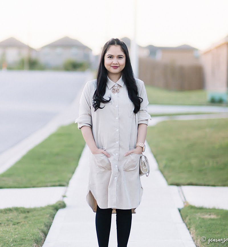 Zaful Long Shirt Dress x Blog Review | Petite Fashion