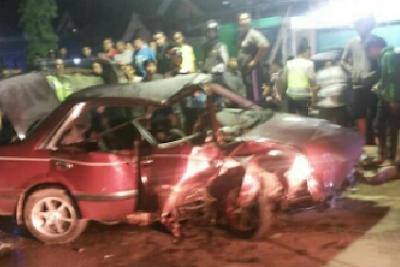 Kecelakaan tunggal akibat pesta miras setelah pulang dari Karaoke HBI (1)