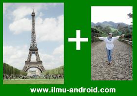 mengganti background foto android