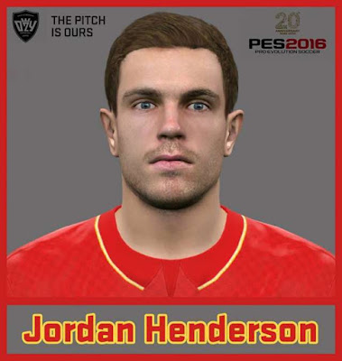 PES 2016 Jordan Henderson Face 2016