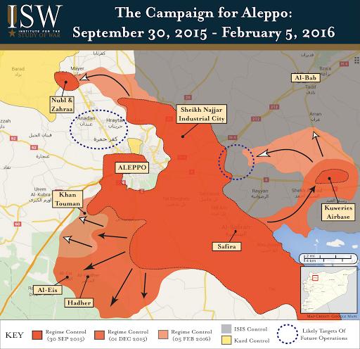 Assad Regime Gains in Aleppo Alter Balance of Power in Northern Syria