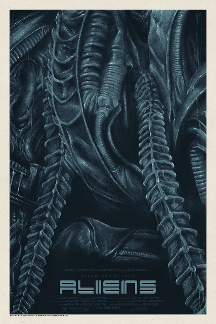 Aliens Movie Poster Screen Print by Timothy Pittides x Grey Matter Art