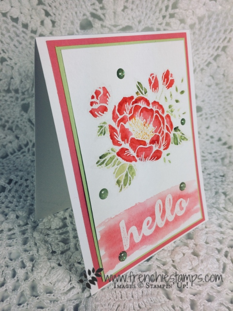 Birthday Blooms Watercolor Emboss, Stampin'Up!, Frenchiestamps,