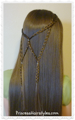 Angel wings braid tutorial, cute hairstyle for school
