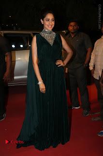 Actress Pragya Jaiswal Stills in Green Long Dress at Gemini TV Puraskaralu 2016 Event  0078.JPG